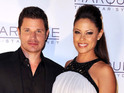 Wipeout host jokes that Nick Lachey would nurse their baby if he could.