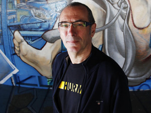 Dave Gibbons, the original illustrator of The Watchmen comics.
