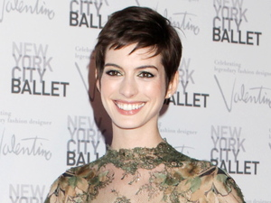 Anne Hathaway New York City 2012 Ballet Fall Gala - Inside Arrivals New York City,