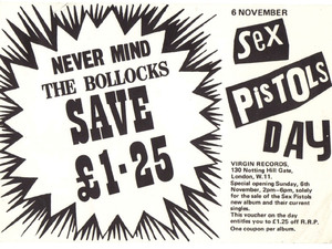 The Sex Pistols: LP voucher