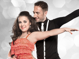 Dani Harmer and Vincent Simone