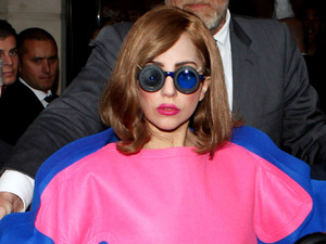 Lady Gaga leaves the Park Hyatt Hotel at place vendome to head to the French Stadium where she is doing a concert in paris.