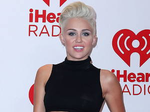 Miley Cyrus at the iHeartRadio Music Festival in Las Vegas.