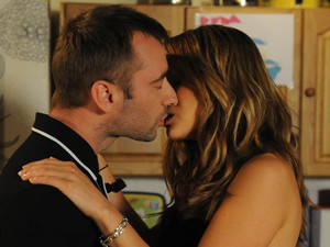 The situation becomes heated and Marcus and Maria kiss