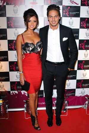 Lucy Mecklenburgh and Mario Falcone The UK Lingerie Awards 2012 London, England - 19.09.12 Credit: (Mandatory): WENN.com