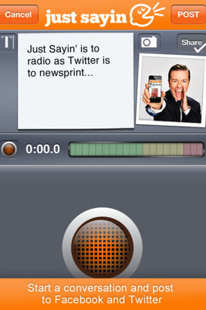 Ricky Gervais Just Sayin&#39; app