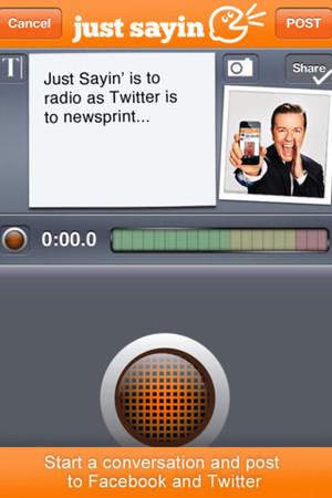 Ricky Gervais Just Sayin' app