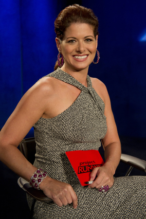 Project Runway 20/09 - Guest judge Debra Messing
