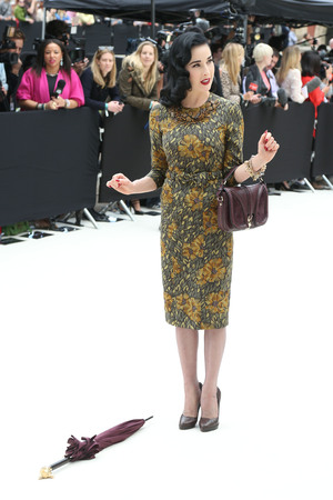Dita Von Teese London Fashion Week Spring/Summer 2013 - Burberry - Arrivals London