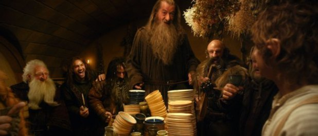 Balin, Kili (Aidan Turner), Bifur, Dwalin, Dori and Gandalf