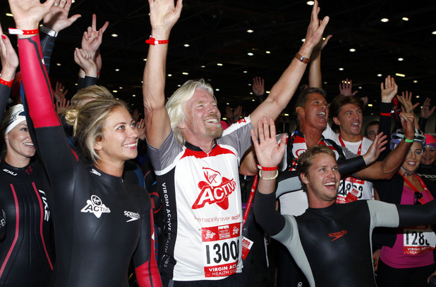 Sir Richard Branson, Holly Branson and Sam Branson.