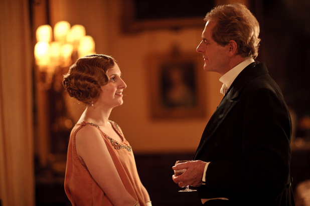 Downton Abbey S03E02: Laura Carmichael as Lady Edith, Robert Bathurst as Sir Anthony Strallan