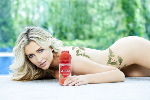 Gemma Merna poses for new drink Vitzer