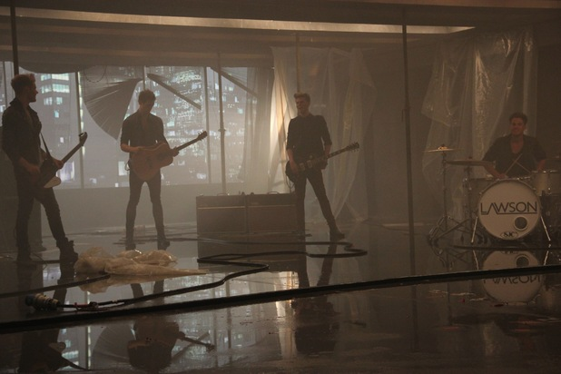 Lawson's 'Standing In The Dark' video shoot - Behind the scenes