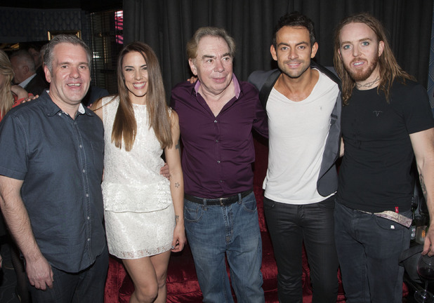 Chris Moyles, Melanie Chisholm, Andrew Lloyd Webber, Ben Forster and Tim Minchin