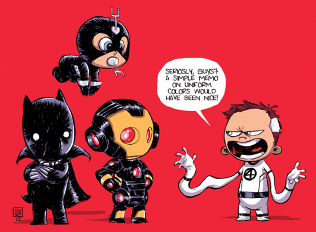 New Avengers Skottie Young baby variant