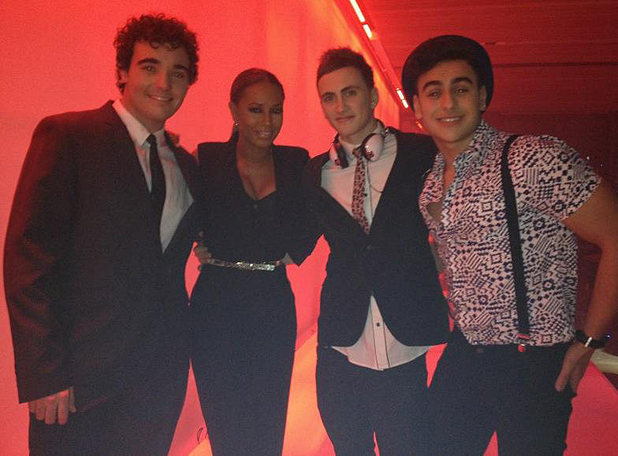 Mel B with her final 3 including Josh Brookes.