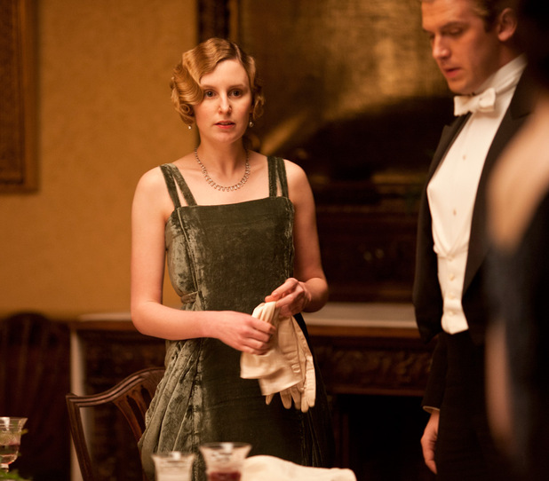 Laura Carmichael as Lady Edith, Dan Stevens as Matthew Crawley