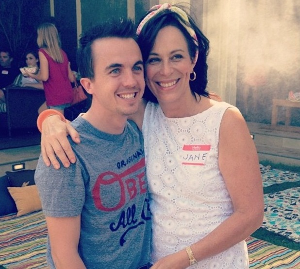 Frankie Muniz and Jane Kaczmarek at &#39;Malcolm in the Middle&#39; reunion.