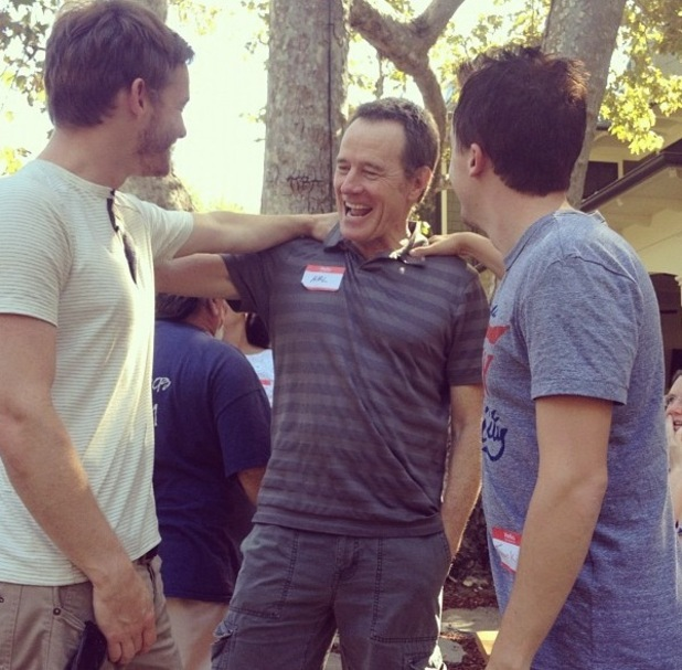 Frankie Muniz and Bryan Cranston at &#39;Malcolm in the Middle&#39; reunion.