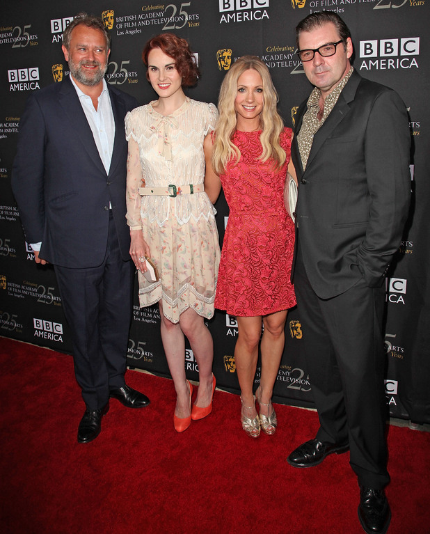 Hugh Bonneville, Michelle Dockery, Joanne Froggatt, and Brendan Coyle