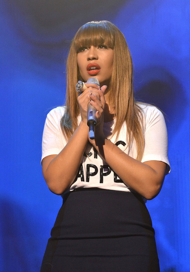Rebecca Ferguson performing at the iTunes Festival at The Roundhouse