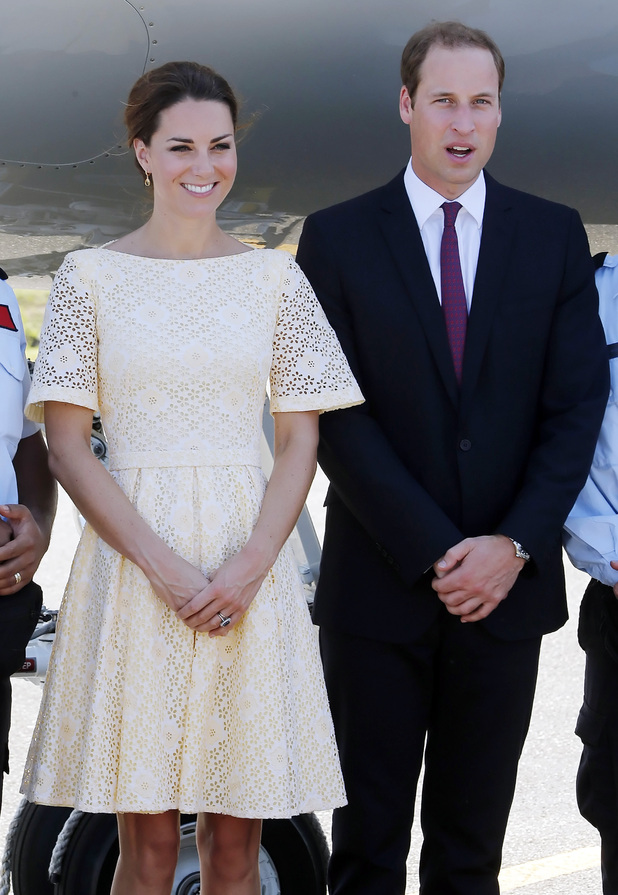 Duchess of Cambridge, Prince William, Honiara airport, Solomon Islands,