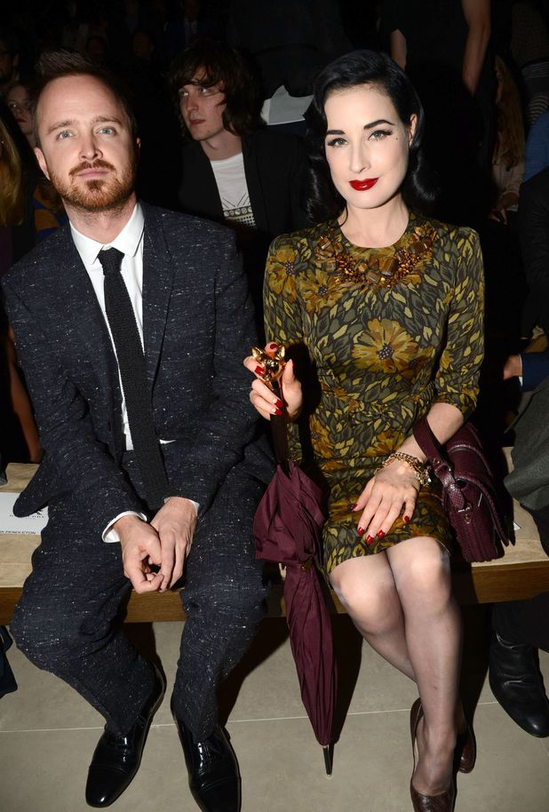 Aaron Paul and Dita Von Teese