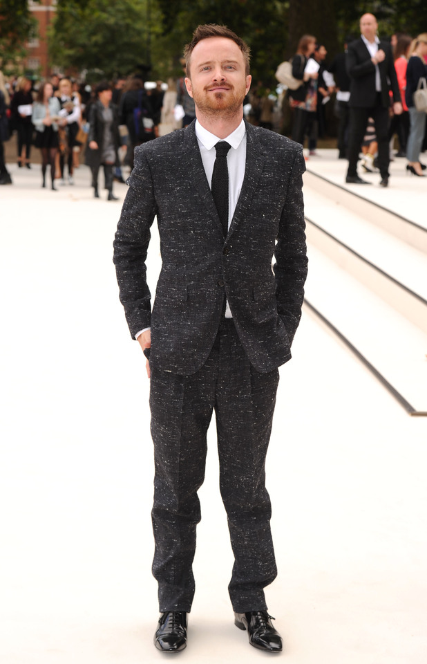 Aaron Paul, Burberry Spring/Summer 2013, London Fashion Week 2012