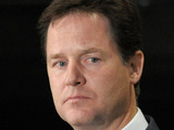 Nick Clegg with David Cameron, August 2012