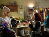 Alexa follows Abi and Lola into the charity shop, where Lola reveals that she named Lexi after her.