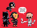 Skottie Young's variant suggests a team including Iron Man and Reed Richards.