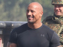 Dwayne Johnson shoots The Fast and the Furious 6 on London's Lambeth Bridge.