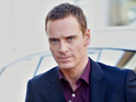 Michael Fassbender takes breaks from shooting X-Men to visit Louise Hazel.