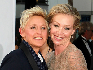 Ellen DeGeneres and Portia de Rossi 64th Annual Primetime Emmy Awards, held at Nokia Theatre L.A. Live - Arrivals Los Angeles, California - 23.09.12 Mandatory Credit: WENN.com/FayesVision