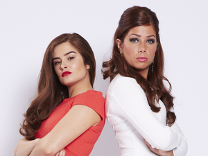 Rachel Shenton and Nikki Sanderson as Mitzeee and Maxine Minniver in Hollyoaks
