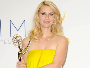Claire Danes with her Lead Actress In A Drama Series award at the 64th Annual Primetime Emmy Awards press room