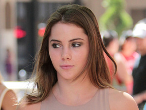 US gymnast McKayla Maroney visits the 'Extra' set at the Grove, West Hollywood - 27.08.12