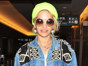 Rita Ora at Narita International Airport, Japan.