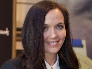 Victoria Pendleton signs copies of her book 'Between the Lines' at Harrod's in west London.