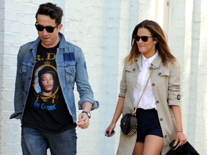 Caroline Flack and Nick Grimshaw out and about in north London London