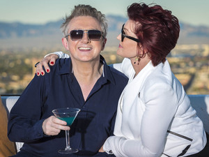 Louis Walsh is joined by Sharon Osbourne at Judges Houses on X Factor