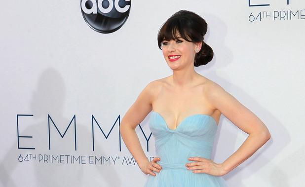 Zooey Deschanel 64th Annual Primetime Emmy Awards, held at Nokia Theatre L.A. Live - Arrivals Los Angeles, California