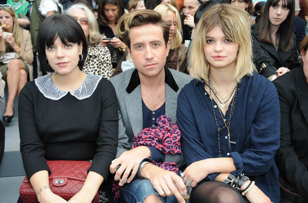 Lily Allen, NIck Grimshaw, Pixie Geldof, London Fashion Week 2010, Topshop Unique