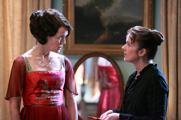 Elizabeth McGovern as Countess of Grantham, Cora, Siobhan Finneran as O'Brien
