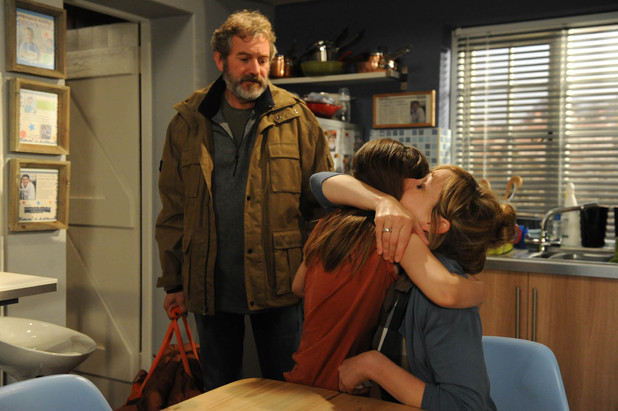 6358: Ashley braces himself as he informs Laurel how Gabby is moving into the pub with him. Laurel is angry but shows a brave face as Ashley leaves with her