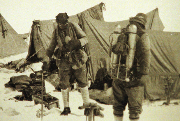 One of the last known images of Everest climbers George Mallory and Andrew Irvine, June 1924
