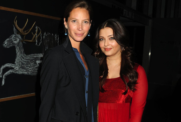 Christy Turlington and Aishwarya Rai Bachchan attend the United Nations 'Every Woman, Every Child' dinner in New York