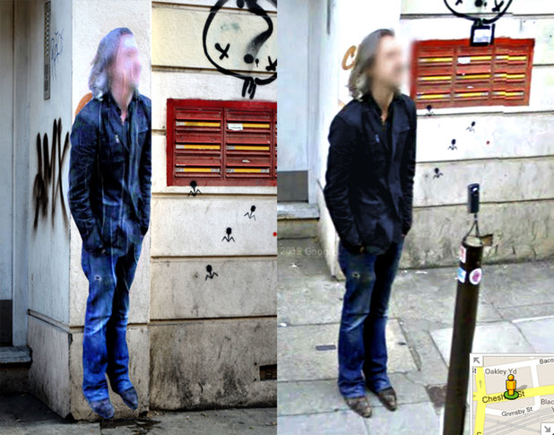 Google Street View 'ghosts' recreated by street artist