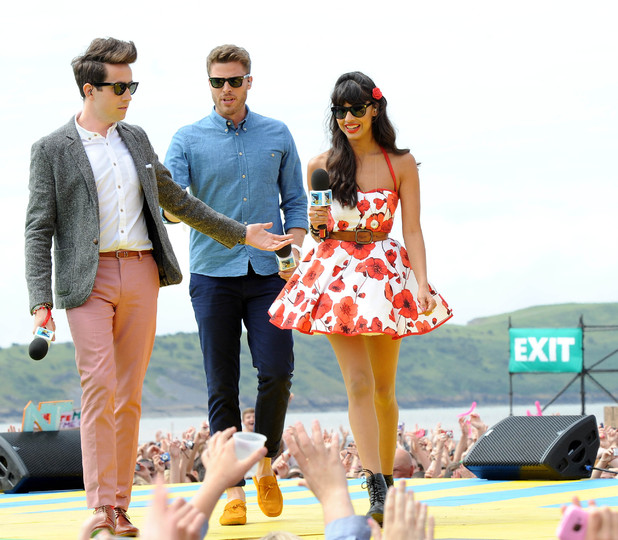 Nick Grimshaw, Rick Edwards, Jameela Jamil, T4 On The Beach, Weston-super-Mare, Britain